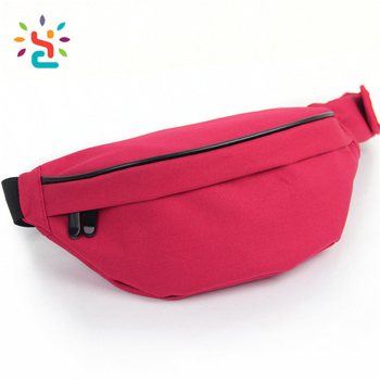 907a723f384f95 Red nylon women Waterproof Travel Sports Wallet Passport fanny pack Belt  Zip Pouch Unisex Running Bum