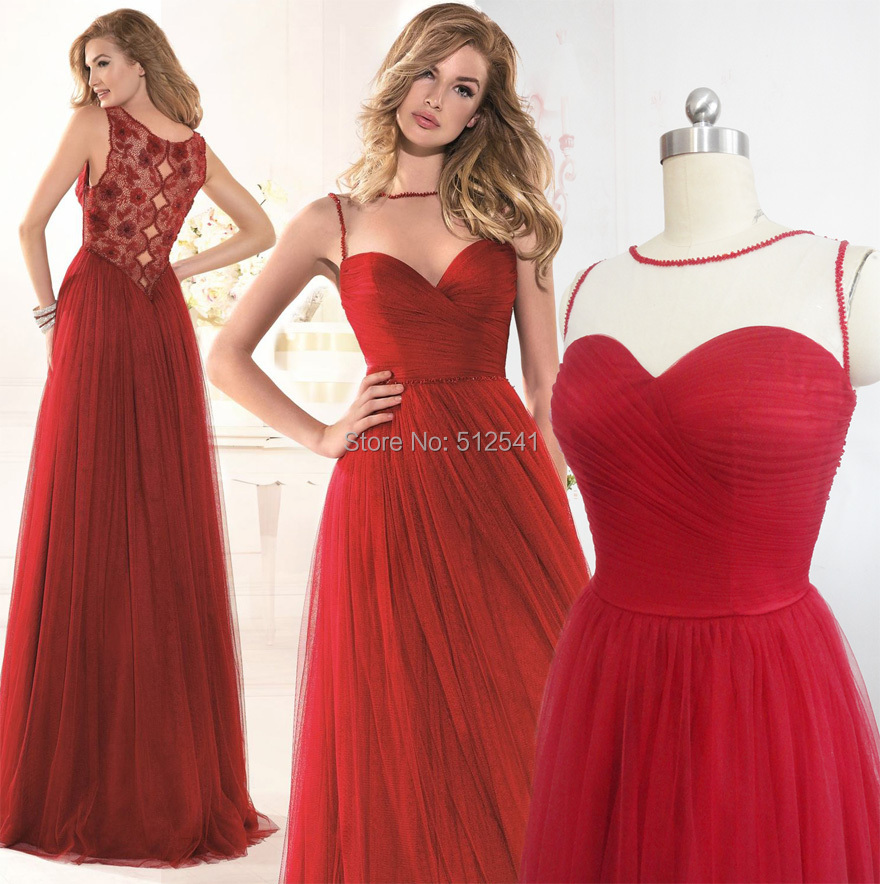 Gallery For > Prom Dresses Dark Red