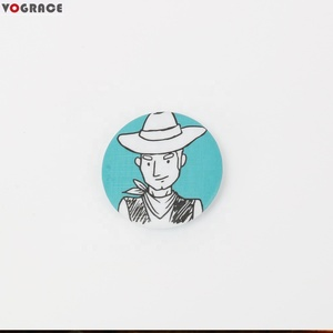 VOGRACE wholesale custom printed tin Badge Pin badge buttons