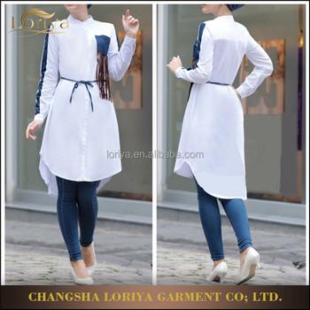 New Fashion Blouse Cotton White Shirt Fancy Elegant Design Women