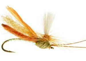 RiverBum Headlight Caddis, Tan Fishing Fly Headlight Caddis, Tan, Pack of 3