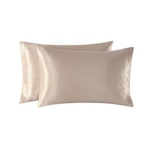 Home Satin Pillowcases Skin Standard/Queen Size Camel Pillow Case Home Decoration