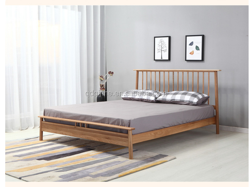 Japanese Style Solid Wood White Oak King Size Bed Frame - Buy King ...