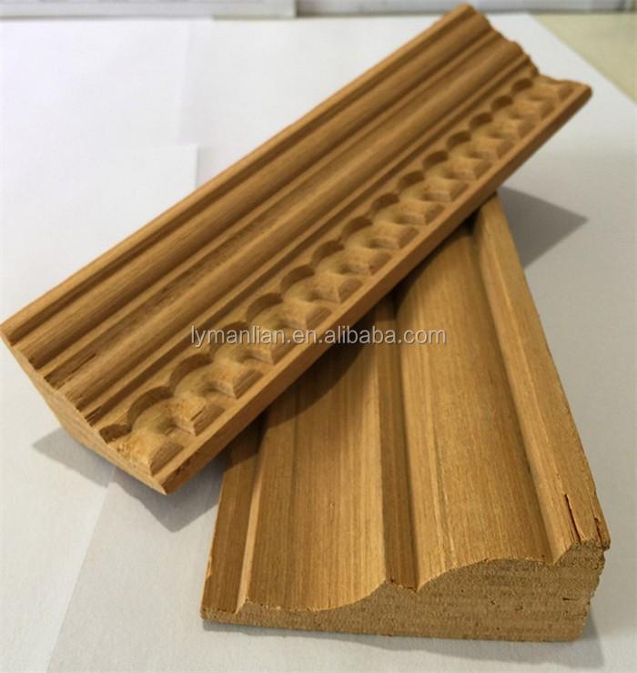Decorativo de madera de teca moldeo- Marcos para puertas y ventanas ...