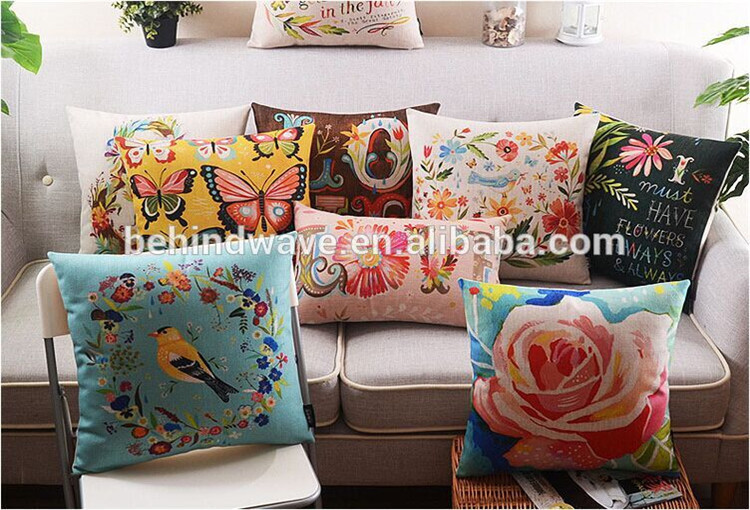 custom sublimation heat transfer printing sofa cushion cover replacement sofa seat cushion covers