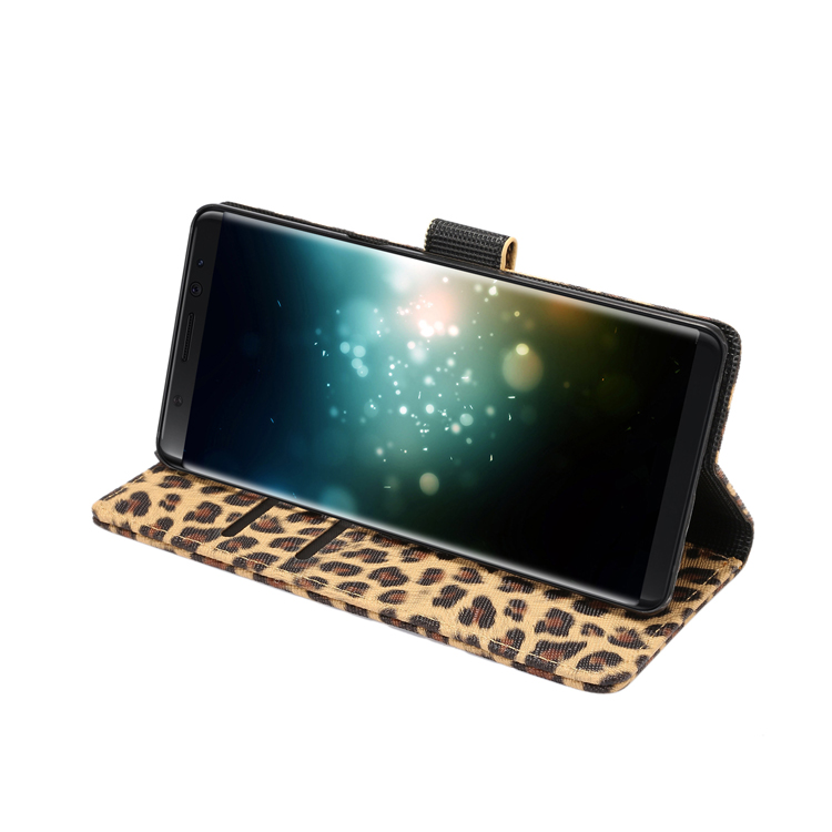Global Best Selling Leather Phone Case for Samsung Note 8 Leopard <strong>Grain</strong> Type