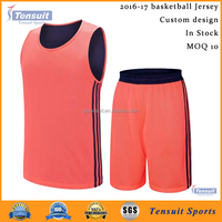 Sports wear good quality basketball uniforms latest design 2016 cheap reversible jersey basketball dri fit youth