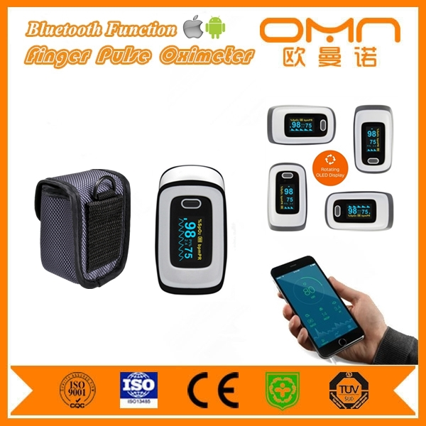 Medical pulse rate recording finger bluetooth pediatric oximeter