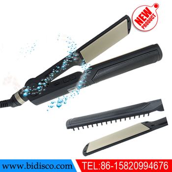 pro ceramic hair straightener with comb for japan us eu korea market