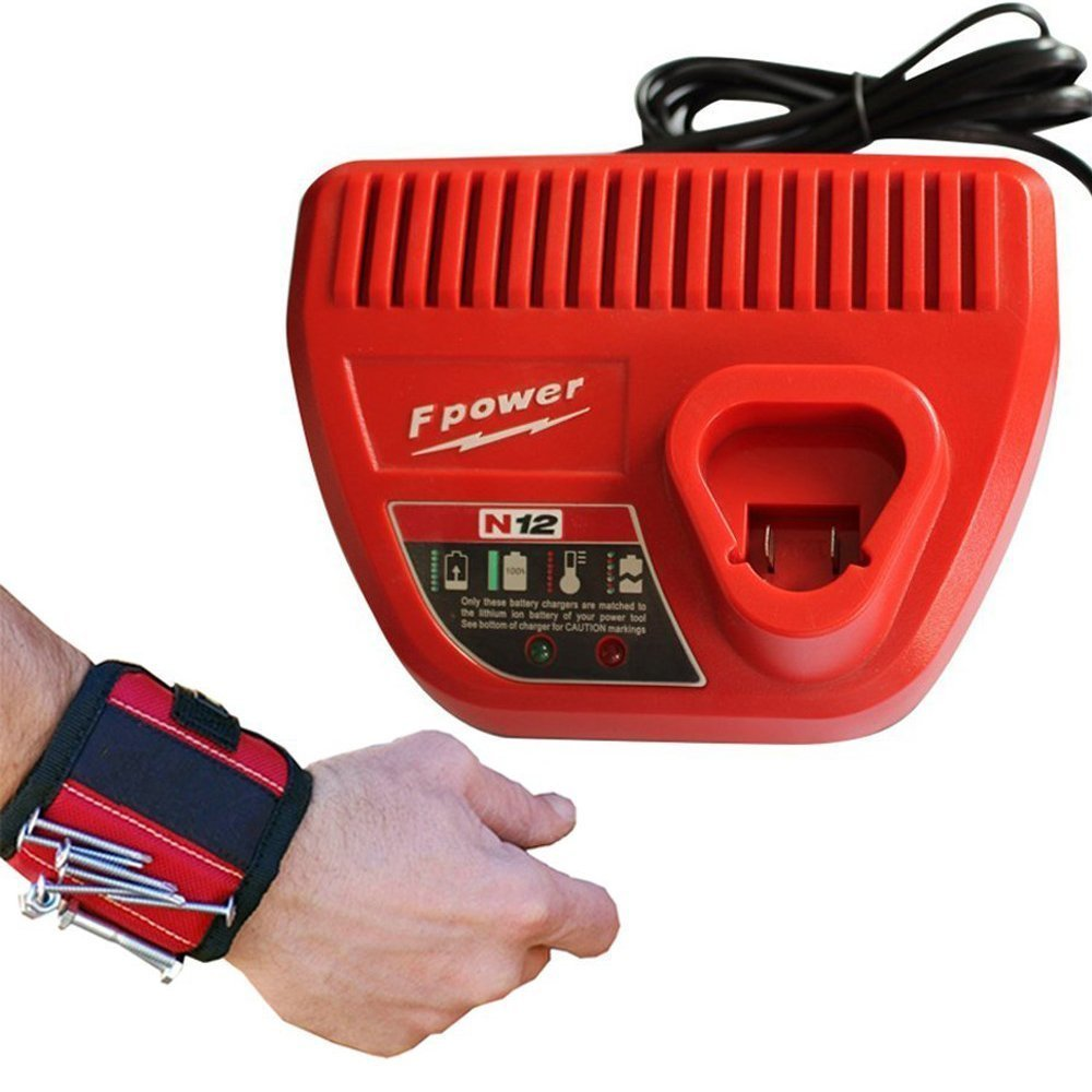 get quotations � replacement milwaukee m12 li-ion battery charger 10 8v-12v  for milwaukee m12 48