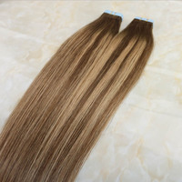 wholesale customized 100% remy european human hair ombre seamless tape hair extensions