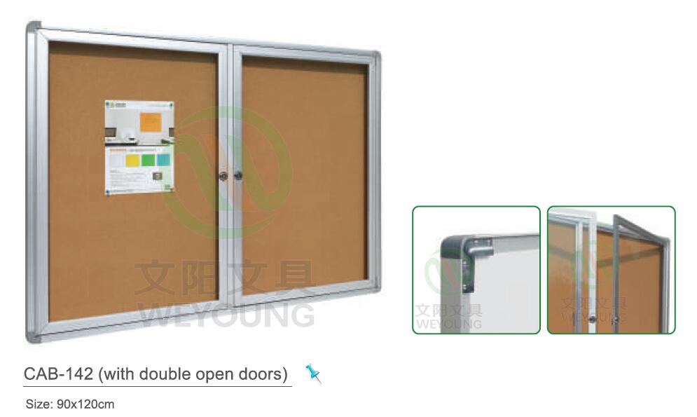 Whiteboard Cabinet/lockable Whiteboard Showcase With Glass Door ...