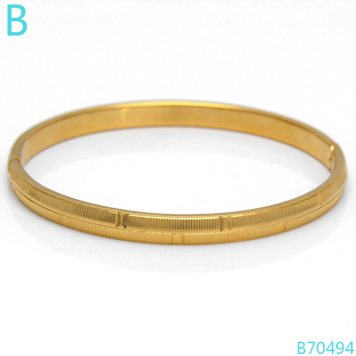 18k girls gold bangle simple gold designs for women, View 18k gold ...