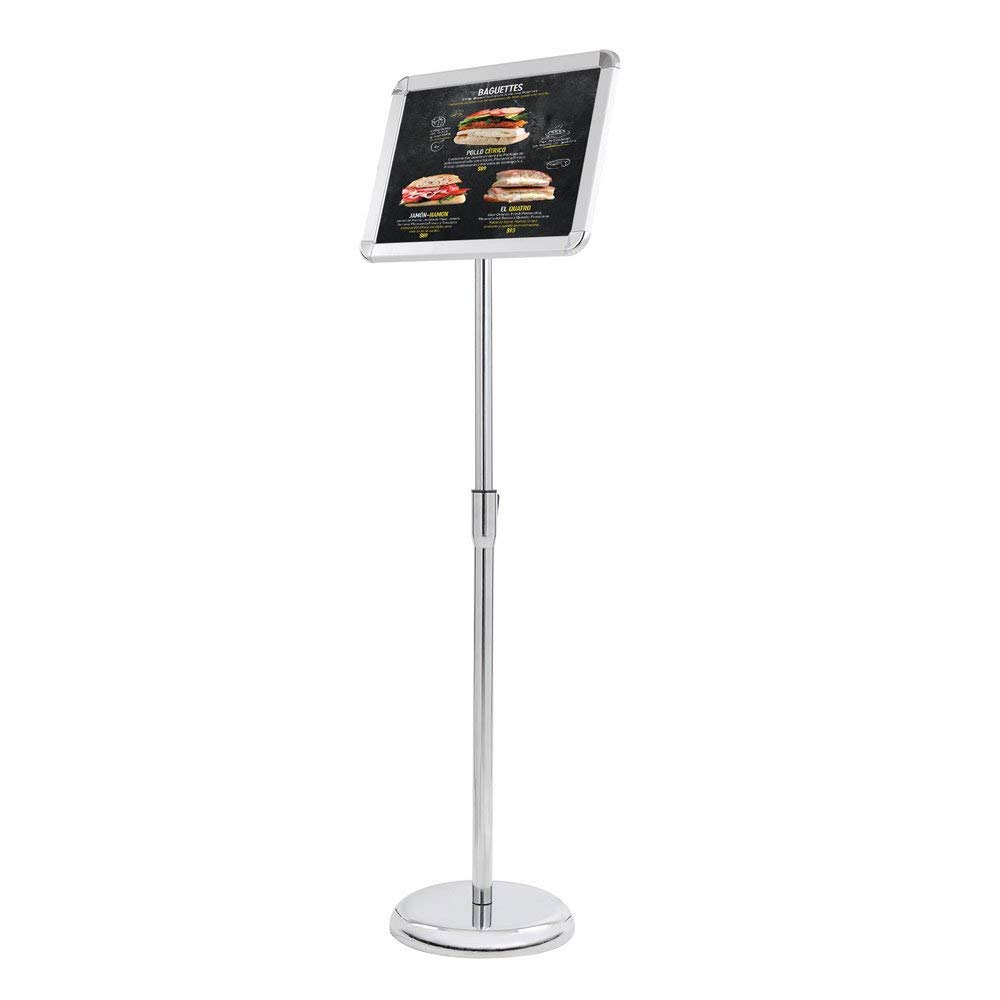 8.5 x 11 Sign Diameter Sturdy Metal Adjustable Floor Pedestal Business and Store Poster Display Sign Stand Holder