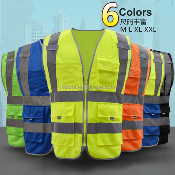 Venta al por mayor de impresión de logotipo personalizado chaleco de seguridad  reflectante de EN20471 y 4d6bedbf70a7