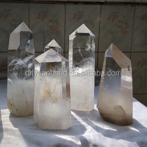 Hot sale!! Natural Clear Quartz Crystal Wands,Rough Quartz Clear Crystal Pillars Stand Free ,Feng Shui Crystal Wands