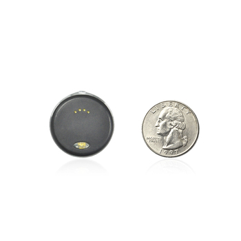 Rounded mini electronic reminder device for cell phone tracker key finder