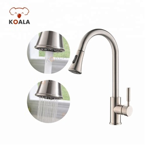 360 Swivel Pull Down Spray UPC Chrome Bronzed Brass Single Handle Kitchen Sink Faucet