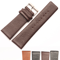 18mm 20mm 22mm 24mm replacement black genuine calfskin leather watch strap/watch band