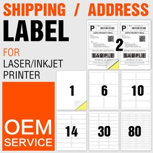 A4 letter size 8.5 x 11 label paper self adhesive barcode stickers sheet shipping/mailing/address labels