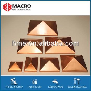 Copper Pyramid Caps - Buy Copper Pyramid Caps,Post Caps,Aluminum Square  Post Cap Product on Alibaba com