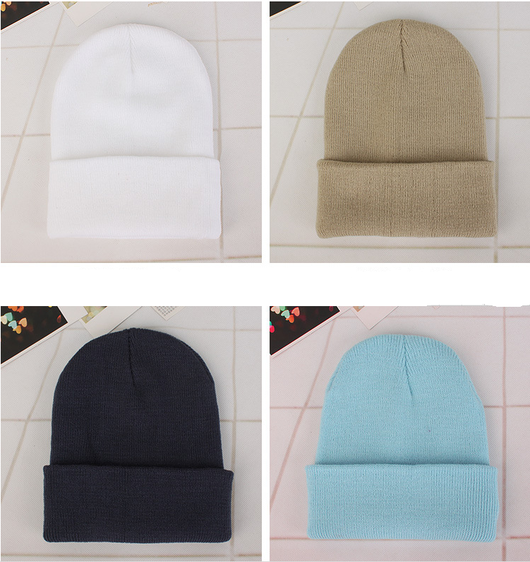 2019 pure knitted hat multicolor woolen hat sleeve hat