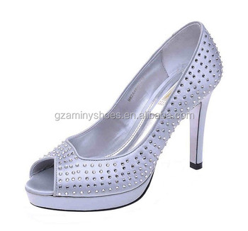 Sexy women high heel platform ladies shoes fashion leather with rhinestone ladies shoes