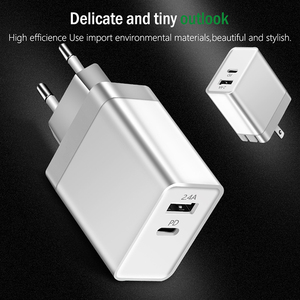 USB PD Charger Fast Charge Type C Power 2 Ports Travel Wall Quick Charger for iPhone X 8 8 Plus New Macbook EU/US/UK