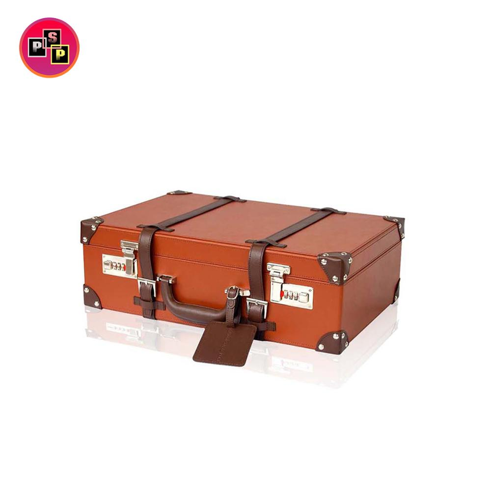 Custom print travel vintage decorative mini cardboard/leather jewelry/cosmetic luggage suitcase