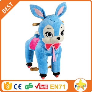 Funtoys CE running horse toy,blue horse toy,mechanical horse