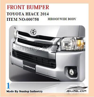 Toyota Hiace Commuter Van 2014 New Car Front Bumper  Buy 2014 New