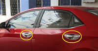 Abs Plastic Door Handle Cover Chrome For Toyota Corolla 2014 - On ...