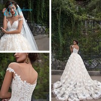 2017 Empire Deep V-Neck Fashionable Wedding Dress Bridal Gown