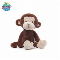 Made In China ALIBA Custom Plush Soft Toys Stuffed Animals Happy Monkey Doll