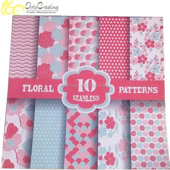 6x6inch Custom Floral Patterns Design Printing Sheet Scrapbook Origami Paper
