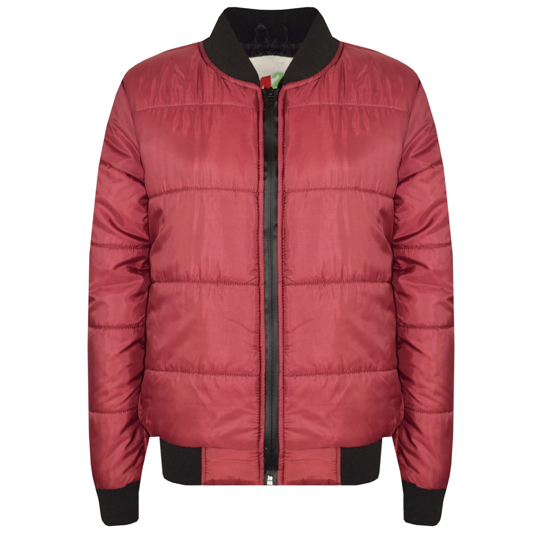 3902b520919d Get Quotations · A2Z 4 Kids® Boys Girls Jackets Kids Wine Bomber Padded  Quilted Zip Up Biker Jacket