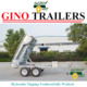 Australian standard Heavy duty hydraulic used tipping trailer