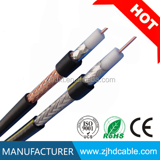 2017 hot sales OEM Top quanlity and factory price 75ohm CCS/CCA/CU rg6 cable 200 m for CCTV CATV