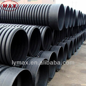 Good wear resistance anti-UV SN4 straight double wall hdpe cable conduit