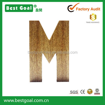rustic wooden letter m for home decoration