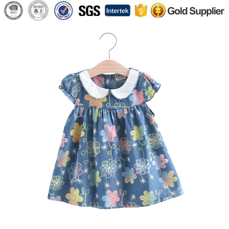 Summer Baby Cotton Party maxi Dresses Infant Kids Girls Tutu Dress