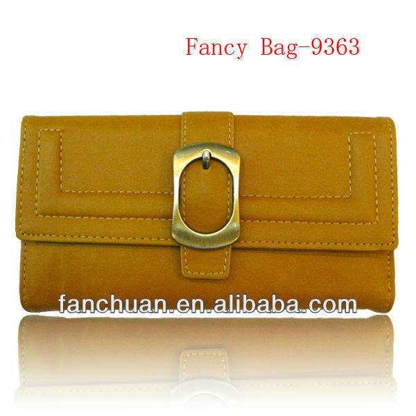 fashion PU notecase with buckle