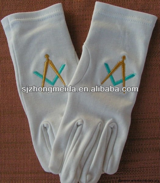 Formal White 100% Cotton Parade Gloves Ladies Lisle Inspection Gloves