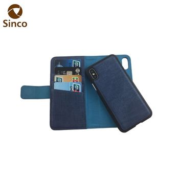 buy online 83e27 1dea5 High Quality Detachable Cell Phone Case For Iphone X Pu Leather Flip Mobile  Phone Wallet Case - Buy Phone Case,Detachable Phone Case,Leather Phone ...