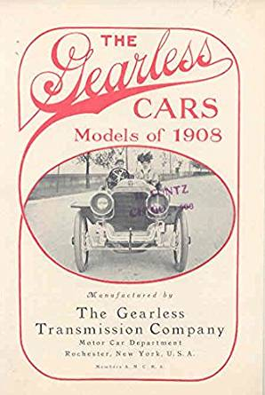 1908 Gearless Great Six 60-75 HP Automobile Brochure Rochester NY