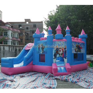 Good quality inflable frozen bouncy castle prices with slide