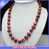 NK-00498 Factory prices red large baroque beads fancy pearl necklace sets
