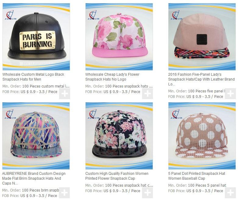 cdda97215 Brand Factory Custom Woven Label 5/6 Panel Cap / Hawaiian Floral Hat ...