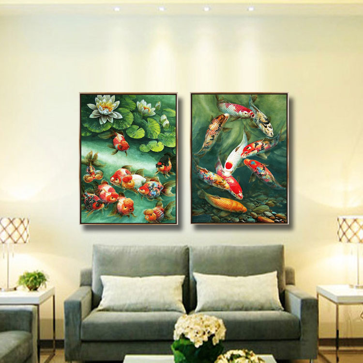 2017 New style HD competivie oil painting canvas light plastic frame art work picture