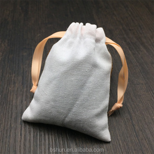 Small Size Cotton Jewelry Bag with Ribbon